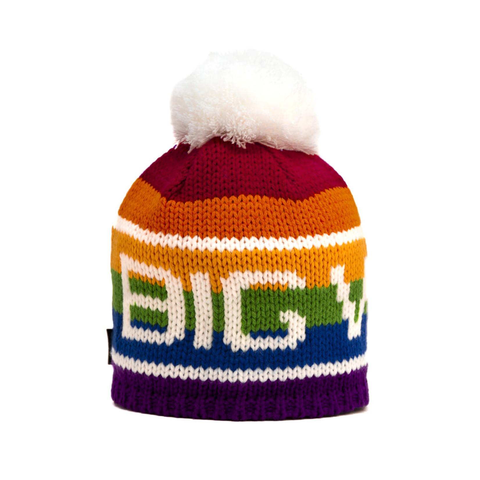 Big White Big Pom Rainbow Original 2