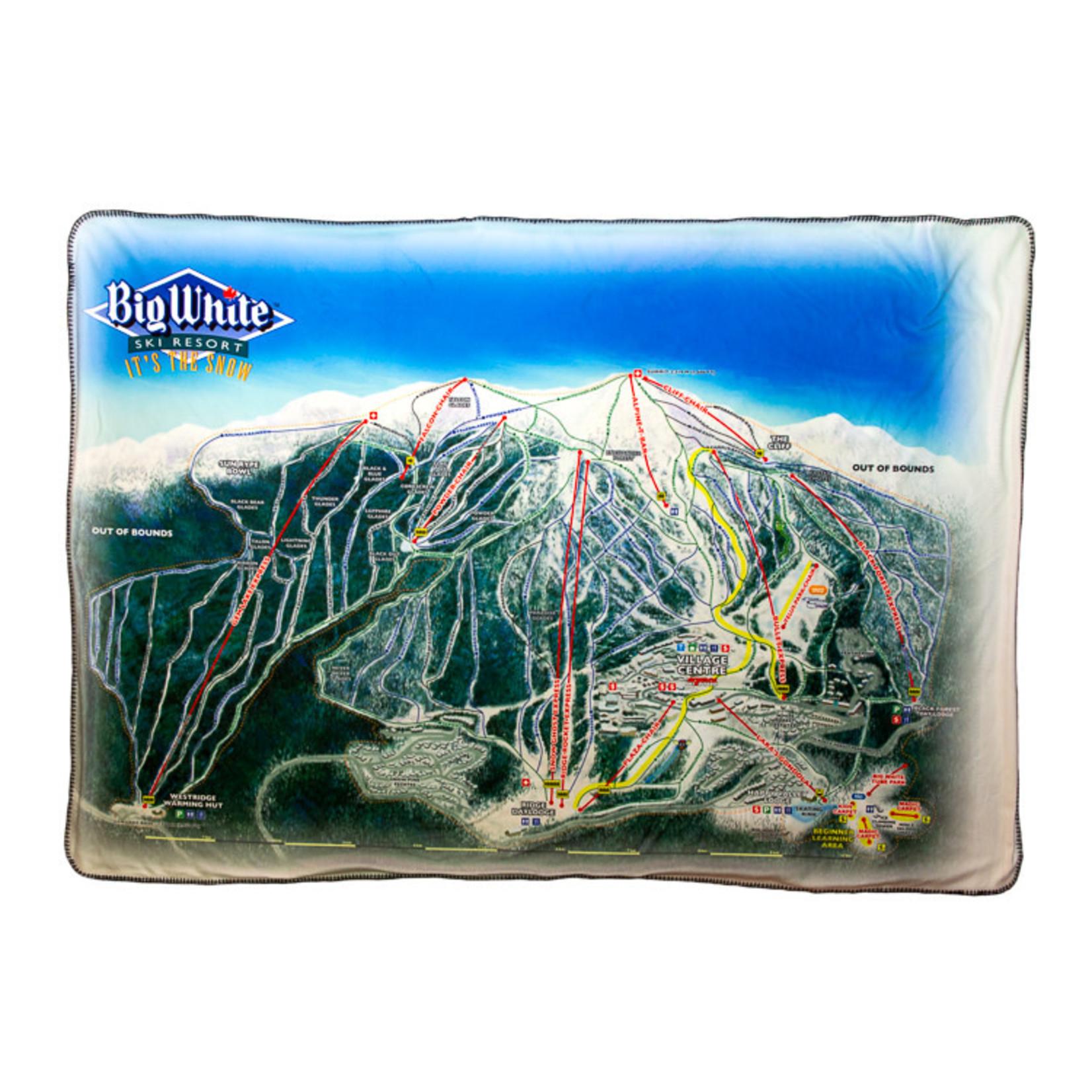 Big White Trail Map Blanket