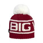 Big White Big Pom Scarlet