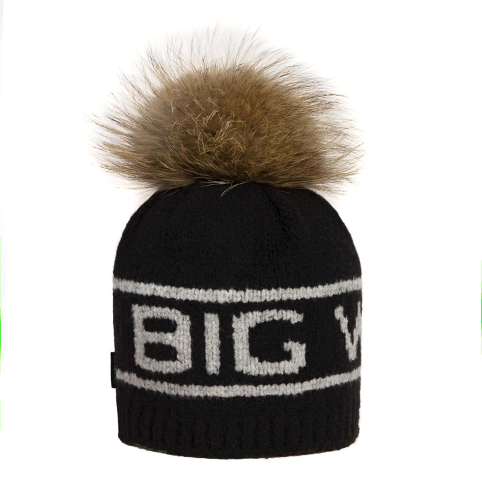 Big White Big Pom Real Black