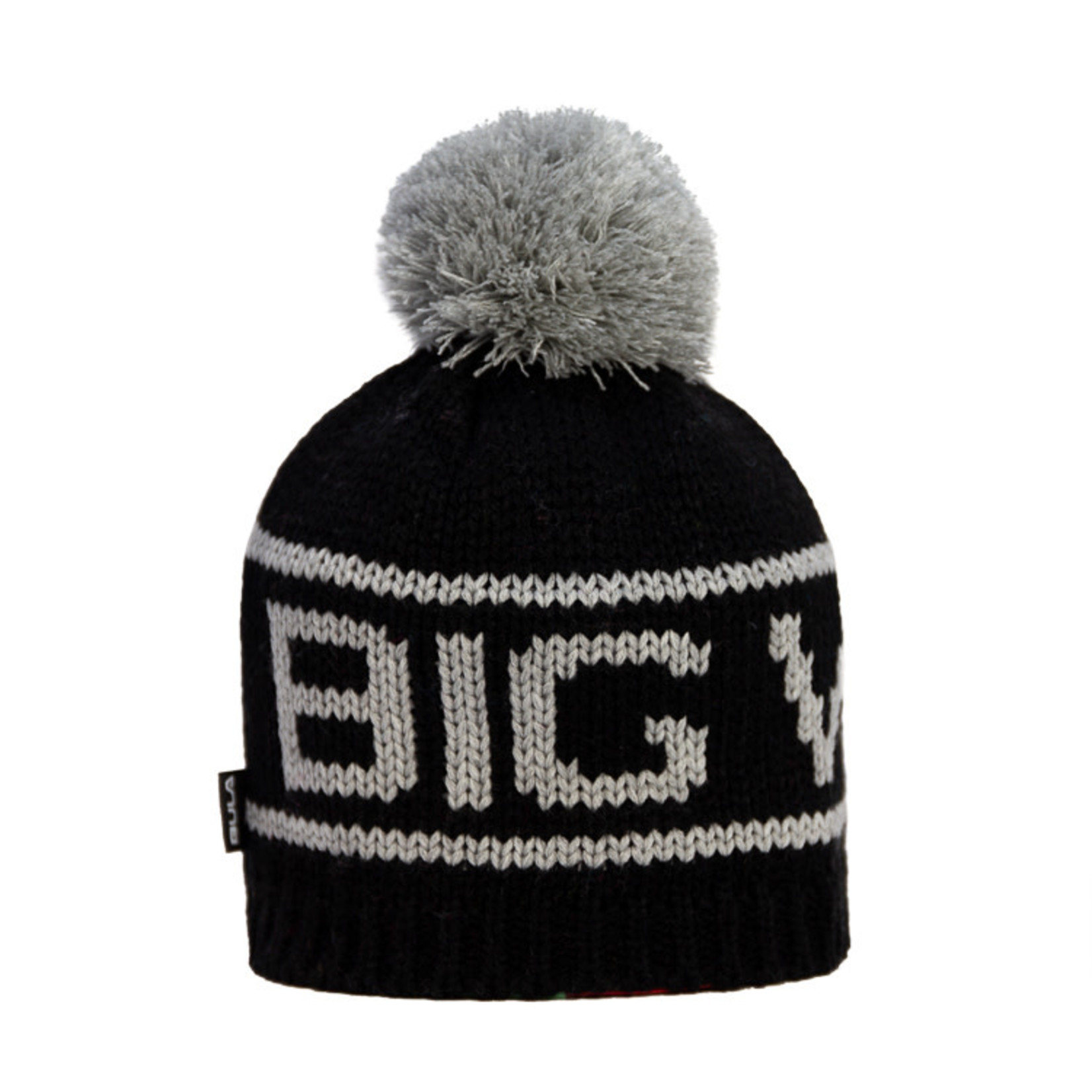 Big White Big Pom Black/Grey