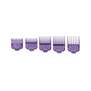 Andis Andis Double Magnetic Comb Set Purple Guides #0-4 ML