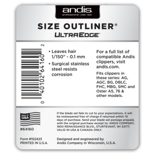 Andis Andis UltraEdge Detachable Clipper Blade Outliner