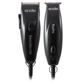 Andis Andis Pivot Motor Combo Adjustable Blade Corded Clipper & Trimmer Set w/ Guides PM-1/PMT-1
