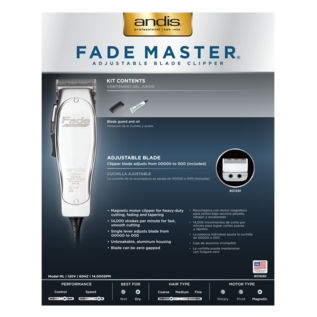 Andis Andis Fade Master Adjustable Blade Corded Clipper ML
