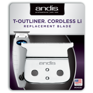 Andis Andis T-Outliner Cordless Li Carbon Steel Trimmer T-Blade ORL