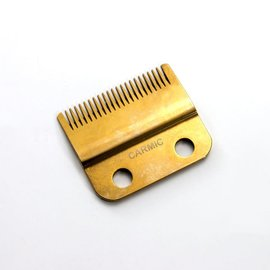 Carmic Carmic Stagger Gold Titanium Blade w/ Ceramic Cutter Fits Wahl Cordless Magic 8148