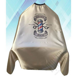 """Shave Factory Shave Factory Satin Cutting Cape Hook Closure 58""""x51"""" Barber Shop Gold"""
