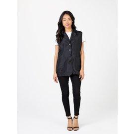 Betty Dain Betty Dain Kool Breeze Stylist Vest w/ Mesh Back Button Closure Black