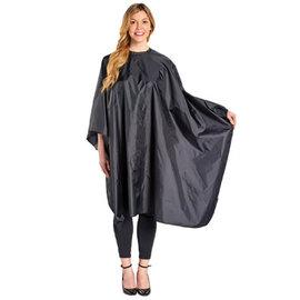 "ScalpMaster ScalpMaster Nylon Hair Cutting Cloth Cape Velcro Closure 54""x60"" Black"