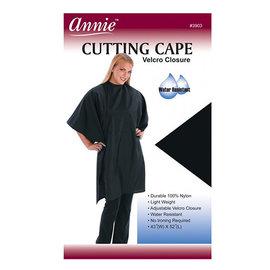 """Annie Annie Cutting Cape Nylon Velcro Closure 45""""x52"""" Black"""