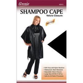 """Annie Annie Shampoo Cape Vinyl Velcro Closure 45""""x54"""" Black"""