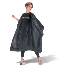 Andis Andis Cutting & Styling Cape Nylon Velcro Closure Black