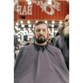 Barber Strong Barber Strong Cape NanoShield Polyester Hook Closure Grey