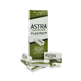 Astra Astra Double Edge Barber Razor Blades Superior Platinum 100pcs