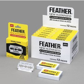 Feather Feather New Hi-Stainless Double Edge Blades Platinum 240pcs [Box]