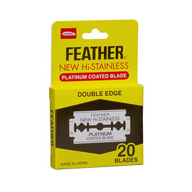 Feather Feather New Hi-Stainless Double Edge Blades Platinum 20pcs