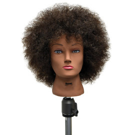 """Celebrity Celebrity Naomi Afro Manikin Up to 20"""" 100% Curly Brown Human Hair"""