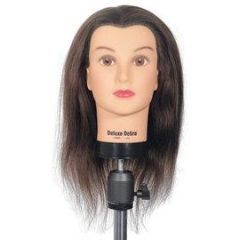 "Celebrity Celebrity Deluxe Debra Manikin Up to 20"" 100% Brown Human Hair"
