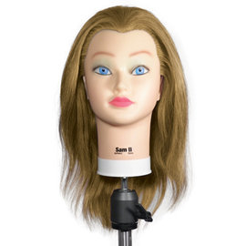 "Celebrity Celebrity Sam II Manikin Up to 22"" 100% Blonde Human Hair"