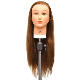 "Celebrity Celebrity Lexi Hair Cutting Manikin Up to 28"" Light Auburn Protein Fiber Hair"
