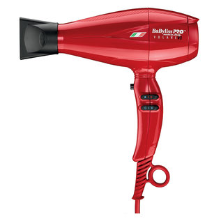 BabylissPRO BabylissPRO Volare Ferrari Designed Engine V1 Nano Titanium AC Hair Blow Dryer Red 2000W