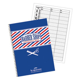 """ScalpMaster ScalpMaster 3 Column Barber Appointment Book 8""""W x 11-3/16""""H"""