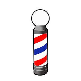 "Mr Barber Mr Barber Barber Pole Sticker Decal 37""H x 9-3/4""W"