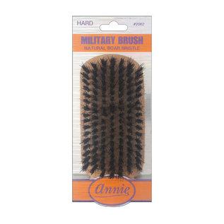 Annie Annie Wooden Club Wave Military Brush Hard Natural Boar Bristles No Handle
