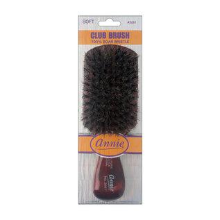 Annie Annie Club Brush 100% Boar Bristles Soft Short Handle