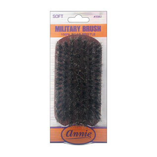 Annie Annie Wooden Club Wave Military Brush 100% Soft Boar Bristle No Handle