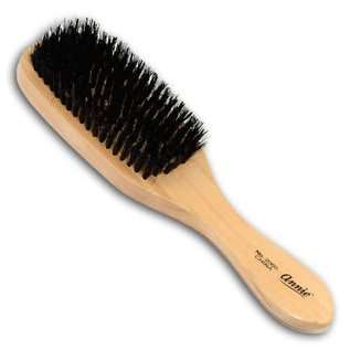 Annie Annie Wooden Club Wave Brush Hard Natural Boar Bristles Long Handle