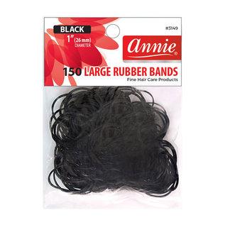 Annie Annie Black Rubber Bands