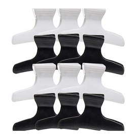 """Niso Niso 3"""" Butterfly Clamps Clips Black 
