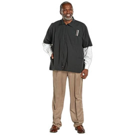 ScalpMaster ScalpMaster Barber Jacket Poly/Cotton Zipper Closure Black