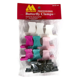 """Marianna Marianna 2"""" Butterfly Clamps Clips 12pcs"""