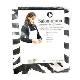 Graham Salon Apron Disposable Clothing Protection 3pcs Zebra Print