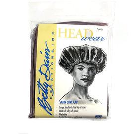 Betty Dain Betty Dain Head Wear Satin Curl Cap Taupe