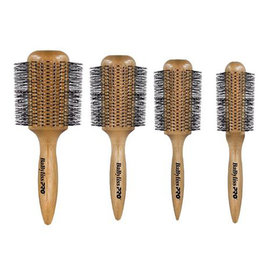 BabylissPRO BabylissPRO 4pc Wooden Blow Dry Round Brushes Blowout