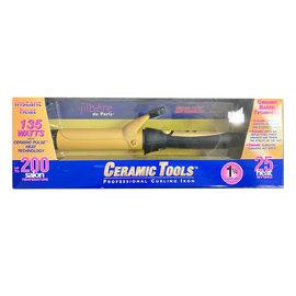 "*CLOSEOUT* Jilbere de Paris Ceramic Tools 1-1/4"" Spring Curling Iron"