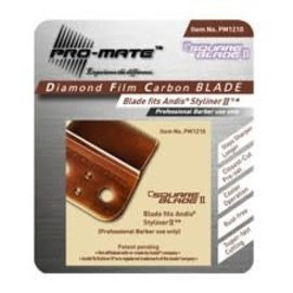 Pro-Mate Pro-Mate Diamond Film Carbon Square Blade for Andis Styliner II & M3 SL