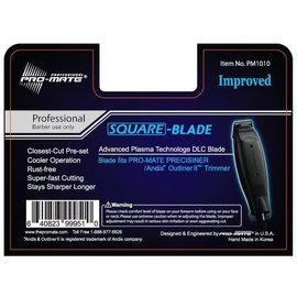Pro-Mate Pro-Mate Advanced Plasma DLC Square Blade for Andis Outliner II GO