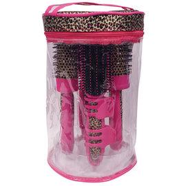 ScalpMaster ScalpMaster Pink Leopard Brush Kit