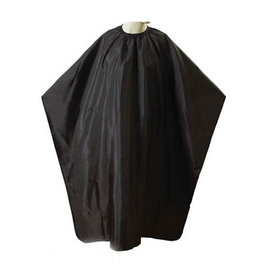 """Shave Factory Shave Factory Cutting Cape Snap Closure 59""""x51"""" Black"""