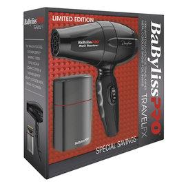 BabylissPRO BabylissPRO TravelFX Travel Dryer & Metal Battery Single Foil Shaver LIMITED EDITION
