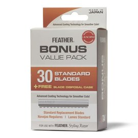 Feather Feather 30 Standard Blades + FREE Blade Disposal Case