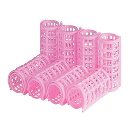 Hollywood Tight Locking Clasp Rollers Bouffant Pink 8pcs