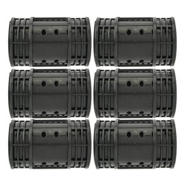 Annie Annie Snap On Magnetic Roller Jumbo Black 6pcs