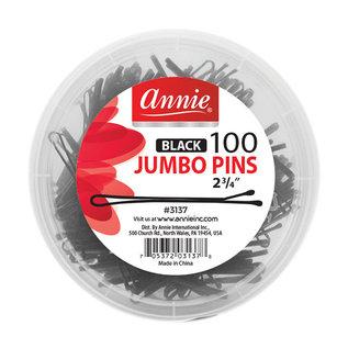 """Annie Annie 2-3/4"""" Jumbo Bob Pins 100pcs Black"""