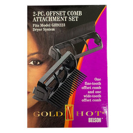 Gold 'N Hot *CLOSEOUT* Gold 'N Hot 2pc Offset Comb Attachment Set Fit GH9223 Dryer